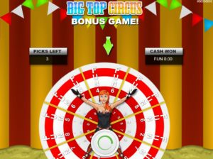Bonusová hra z online automatu Big Top Circus