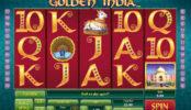 Obrázek ze hry online automatu Golden India