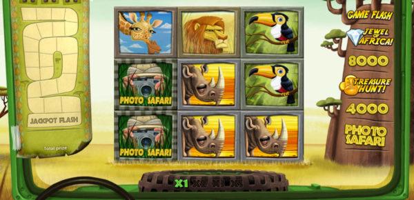 Obrázek ze hry automatu Safari online