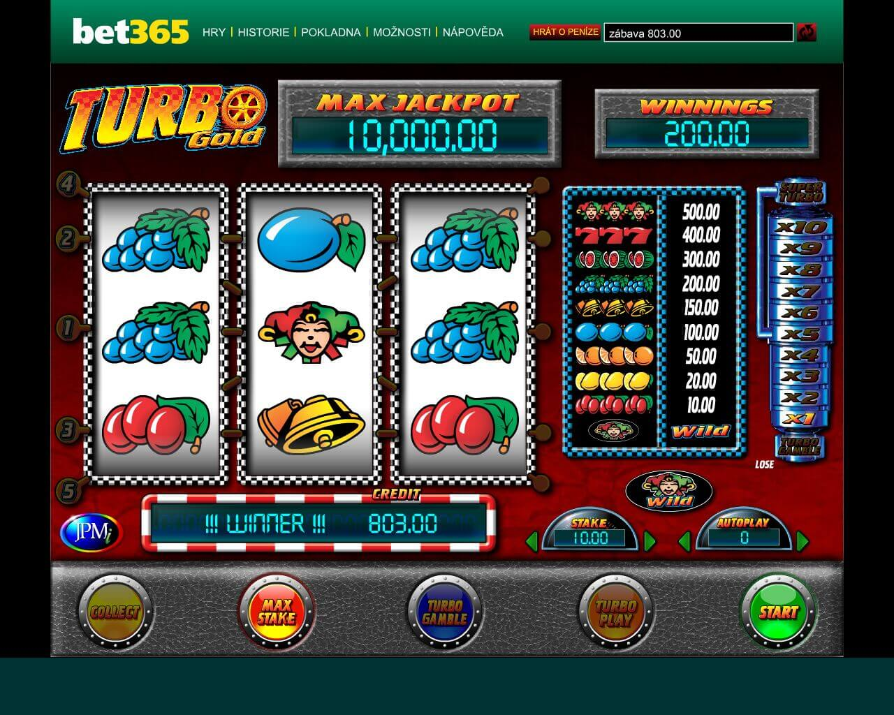 Online automat Turbo gold