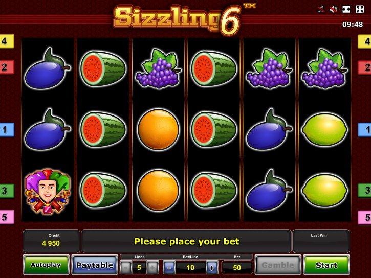 Sizzling Online Zdarma